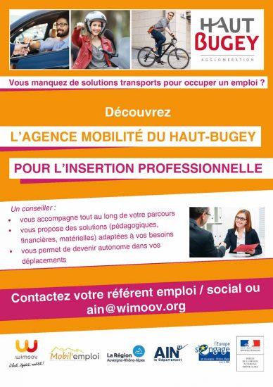 Wimoov - Agence mobilité du Haut-Bugey pour l'insertion professionnelle