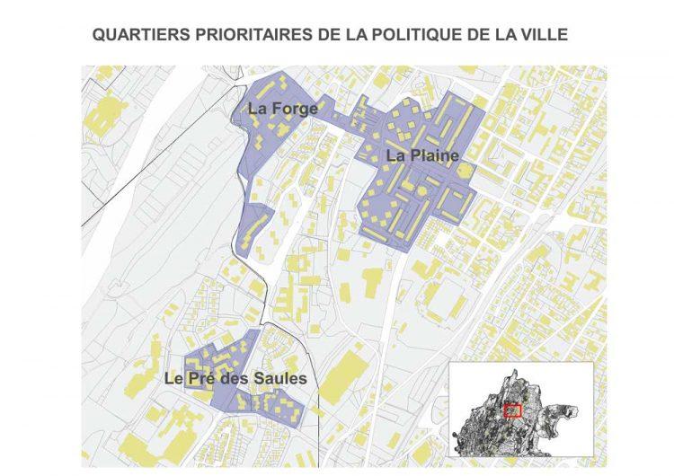 Carte des quartiers prioritaires de la politique de la ville - Haut-Bugey Agglomération