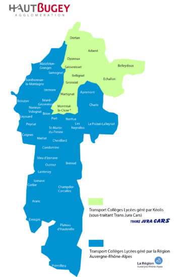 Carte scolaire Haut-Bugey