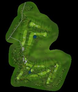 Plan parcours golf